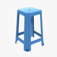 plastic stool 3d max