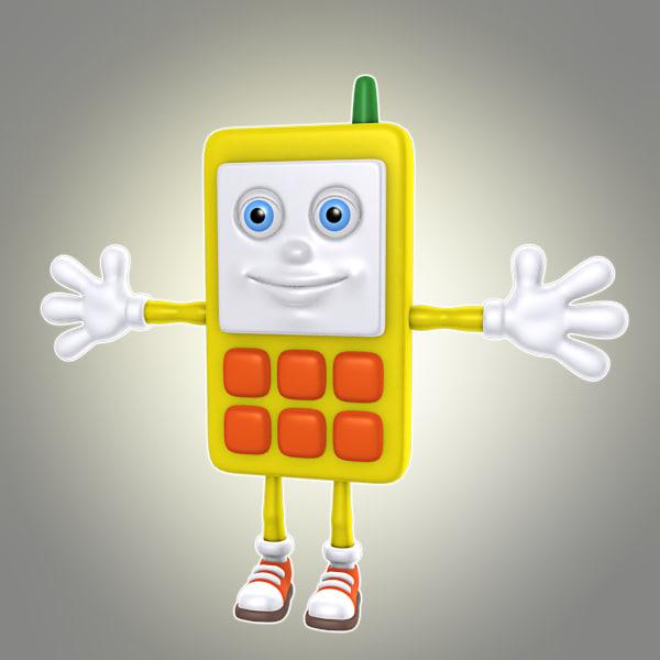 3d model cartoon phone