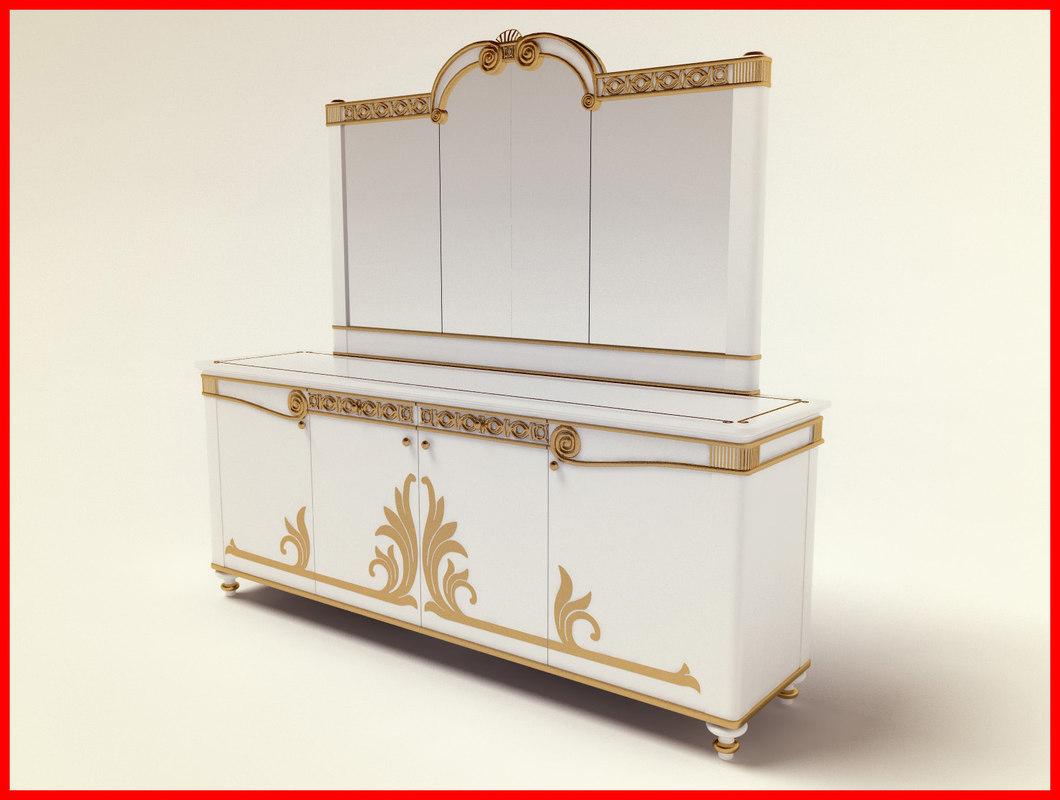 3d model luxury cupboard