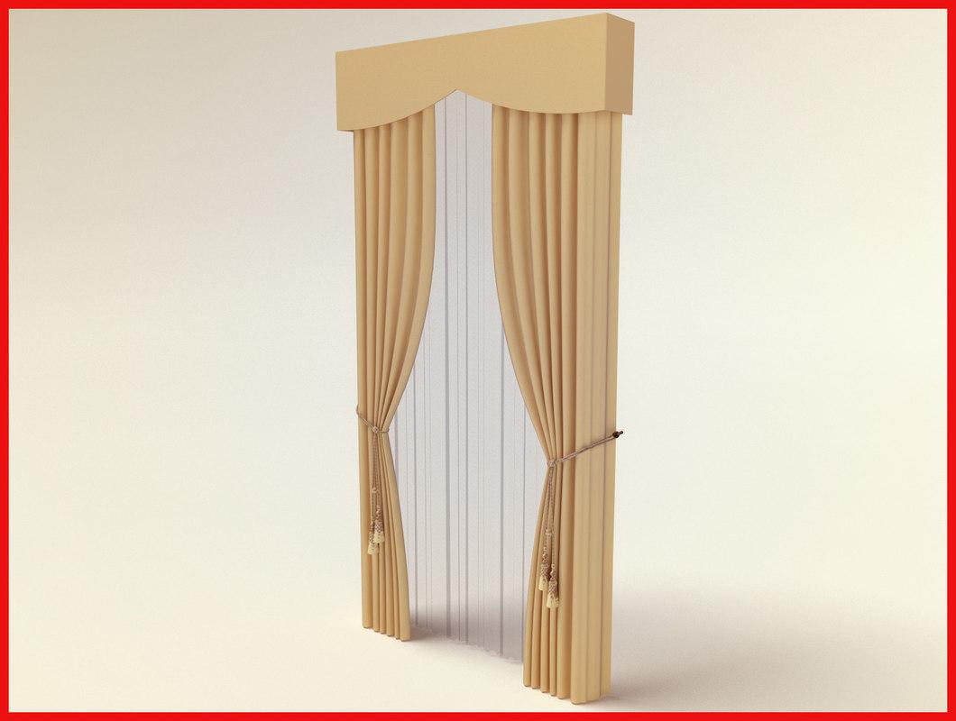 3d curtain sheer