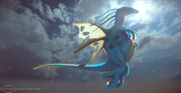 3ds max water dragon
