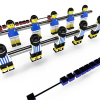 obj lego football table bars