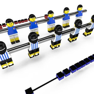 obj lego football table bars