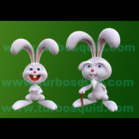 3d model cartoon old rabbit boy