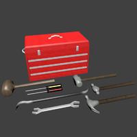tool set 3d obj
