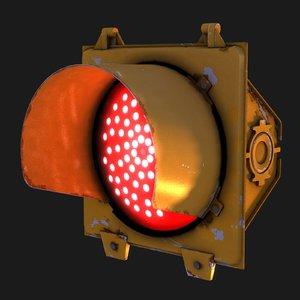 traffic signal stop light 3d model