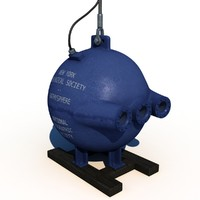 3d model of bathysphere submarine