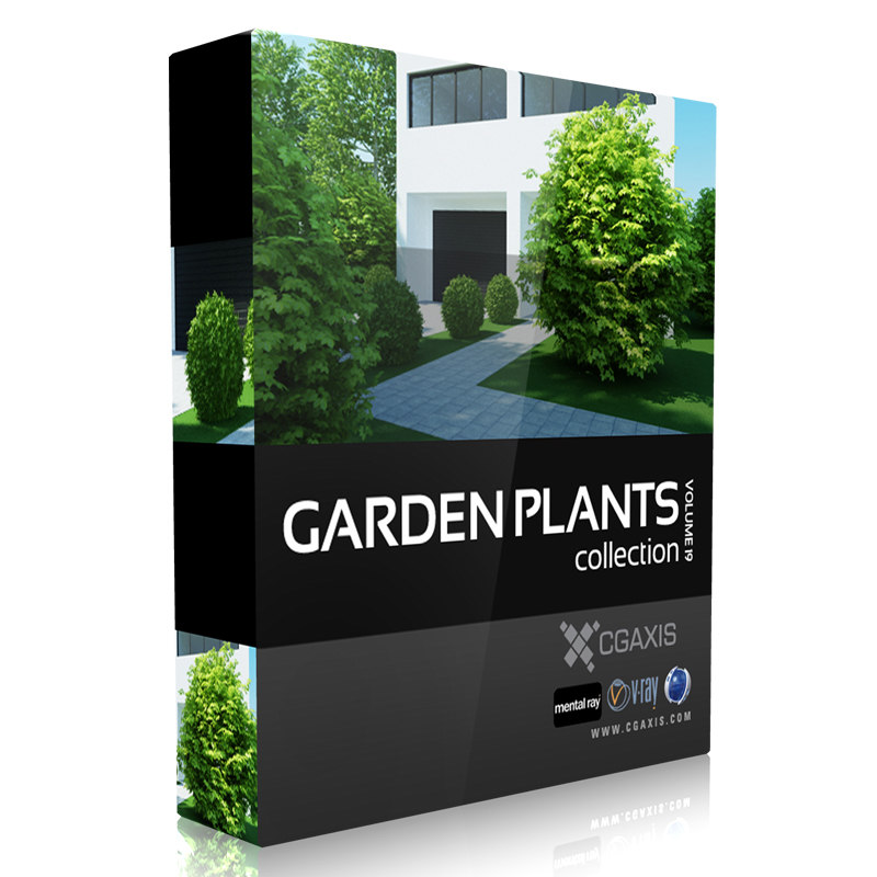volume 19 garden plants 3d max
