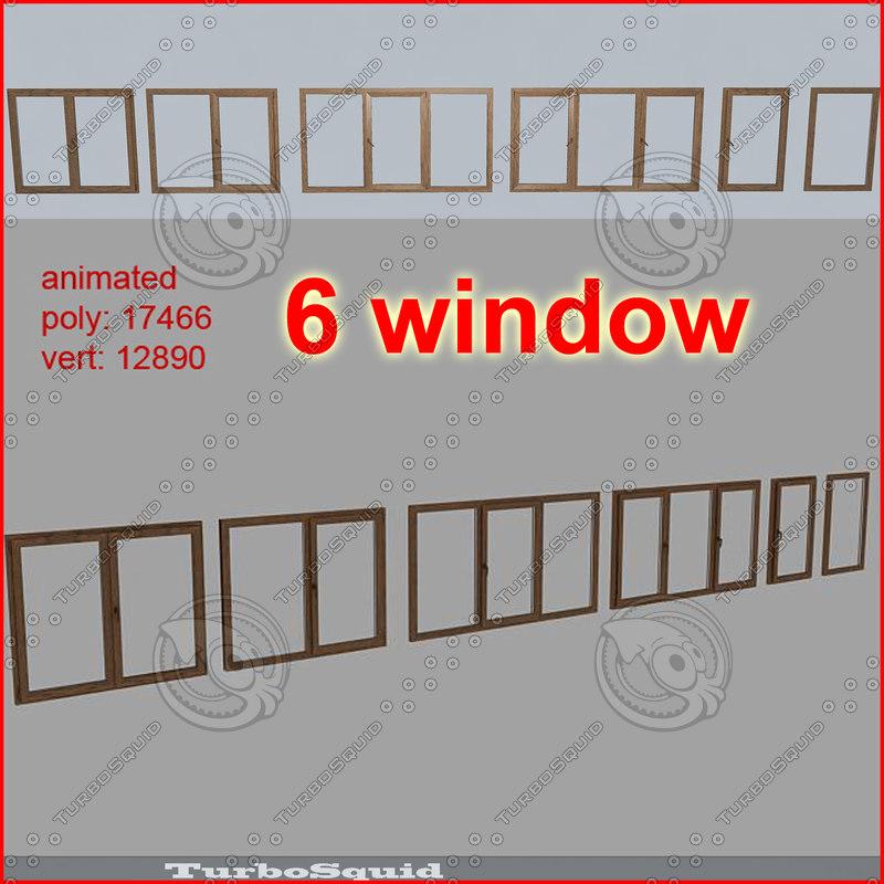 3d model window 01-02-03-04-05-06 pack