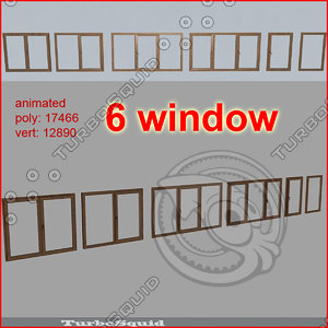 3d model window 01-02-03-04-05-06 pack