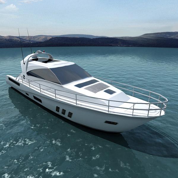 3d realtime yacht model