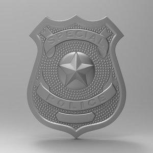 badge police obj