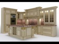 classical kitchen furniture 3d max