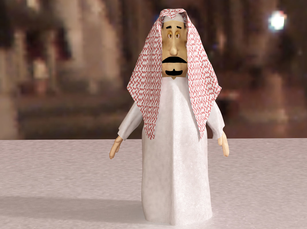 arabian khaliji man animation max