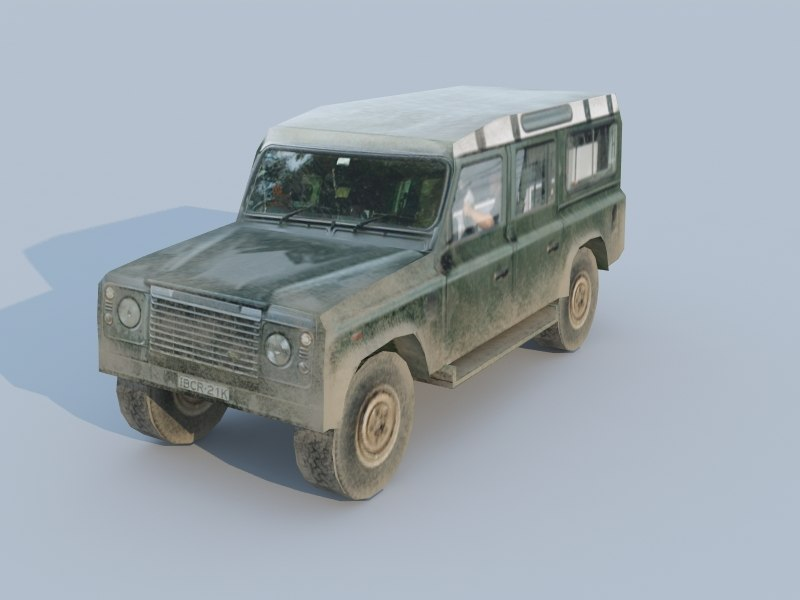 3d model land rover low-poly