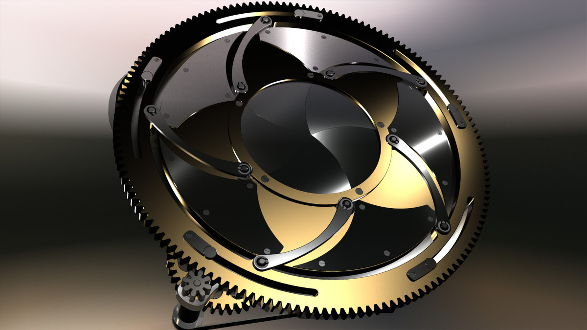blade iris lens 3d model