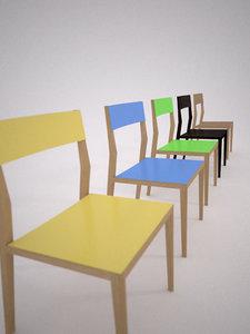 3d mint chair air model