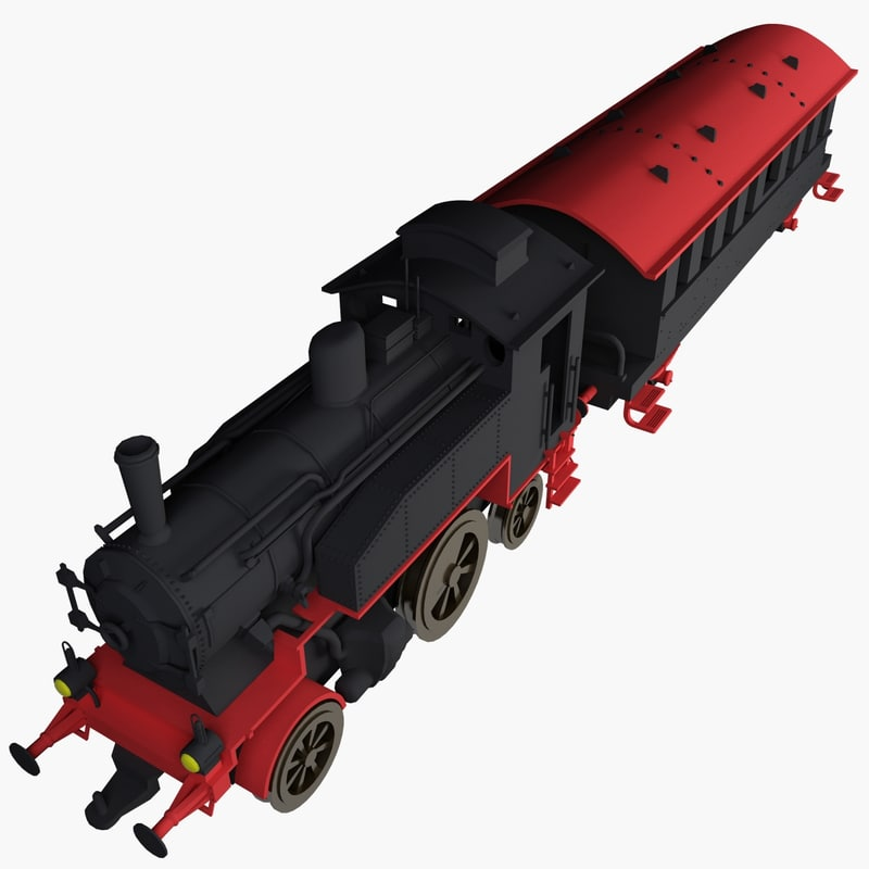 3d locomotive toy model