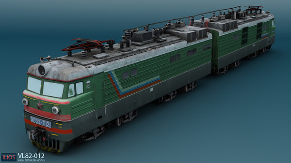 vl82 russian electric locomotive 3d model