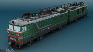 vl82 russian electric locomotive 3d model