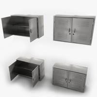 3d model medical metal cabinet