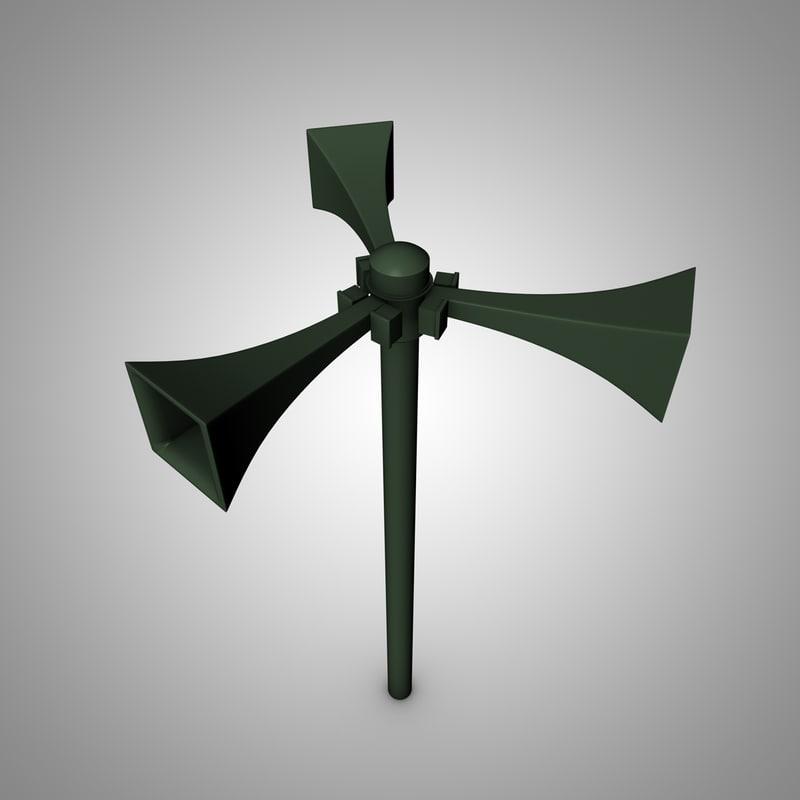 air raid siren 3d model