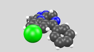 alprazolam xanax chemical 3d max