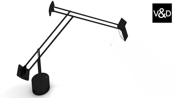 3d model of artemide tizio lamp lighting