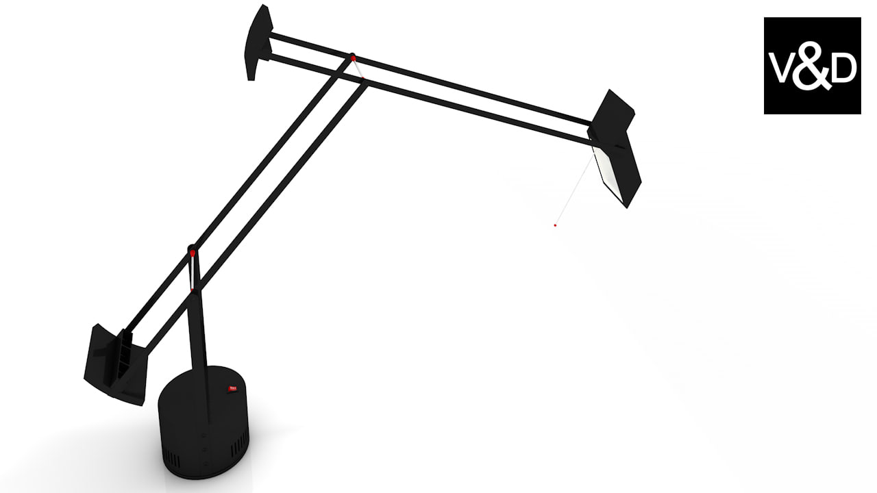 3d model of artemide tizio lamp lighting