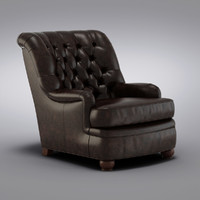 Pottery Barn - Baxter Leather Club Armchair (2)