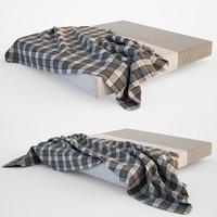 3dsmax bed blanket set