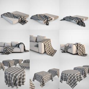 3ds max blanket tablecloth set