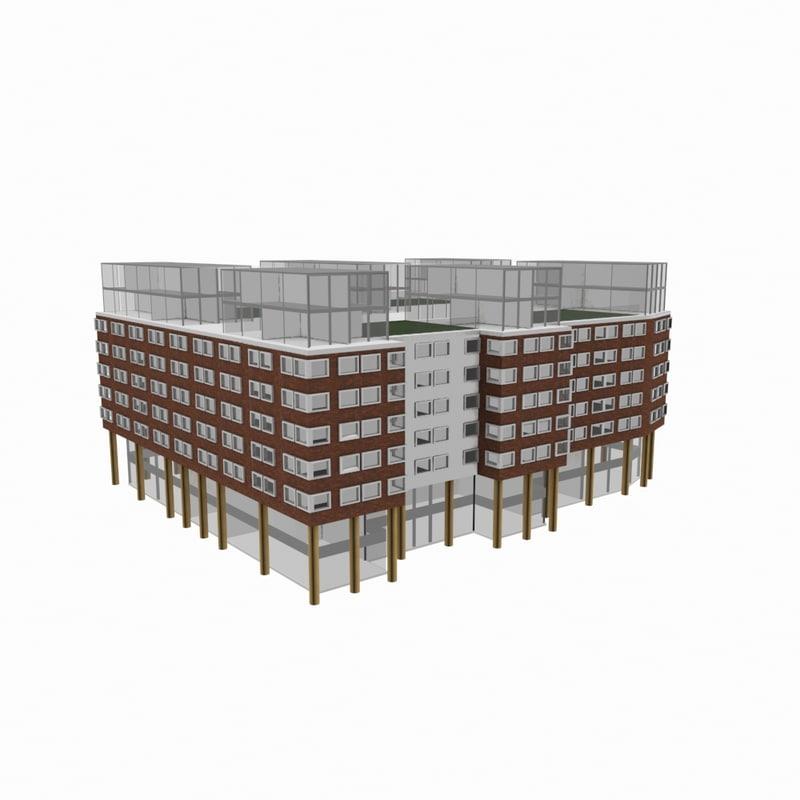 residential office building 3d model