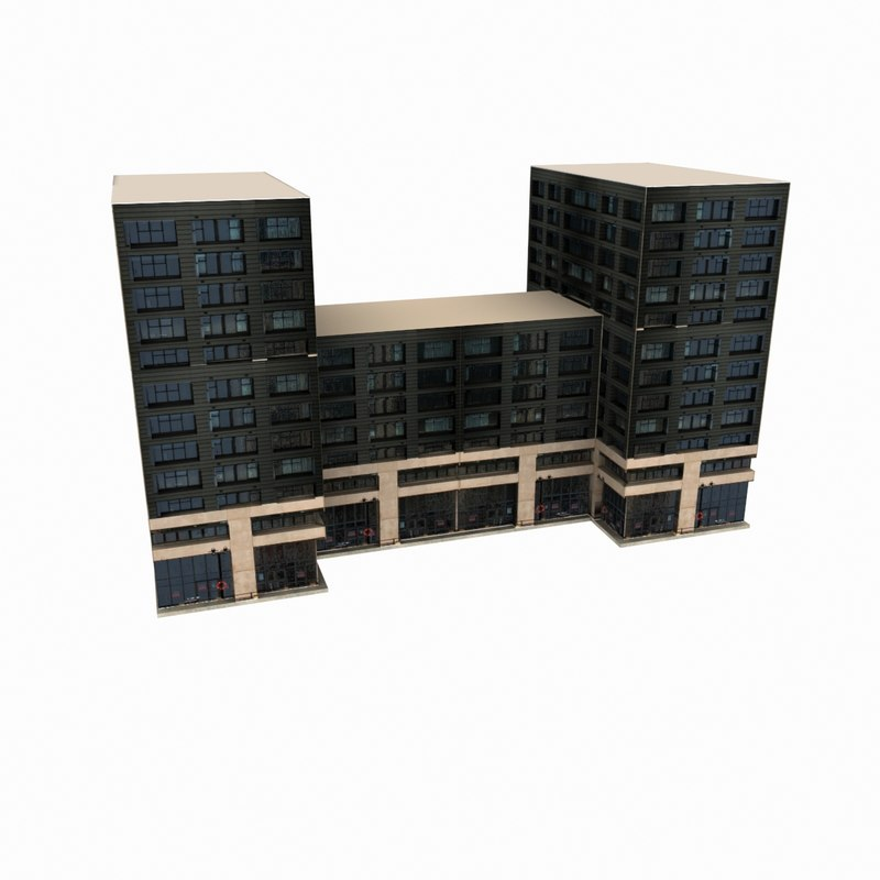 residential office building 3d max