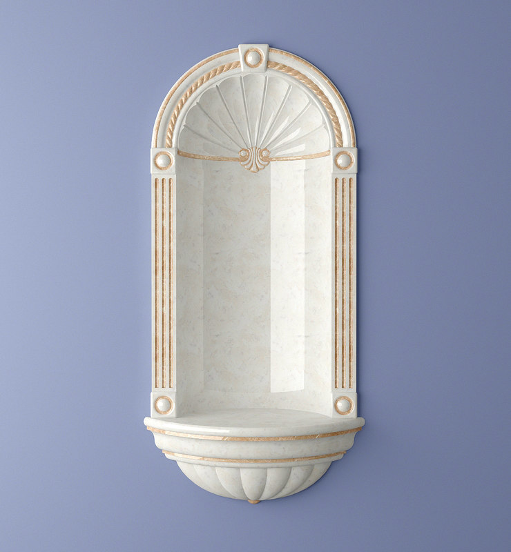 3d wall niche classic model