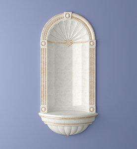 3d wall niche classic model