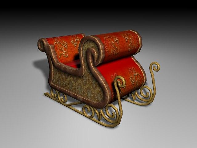 3ds santa chariot