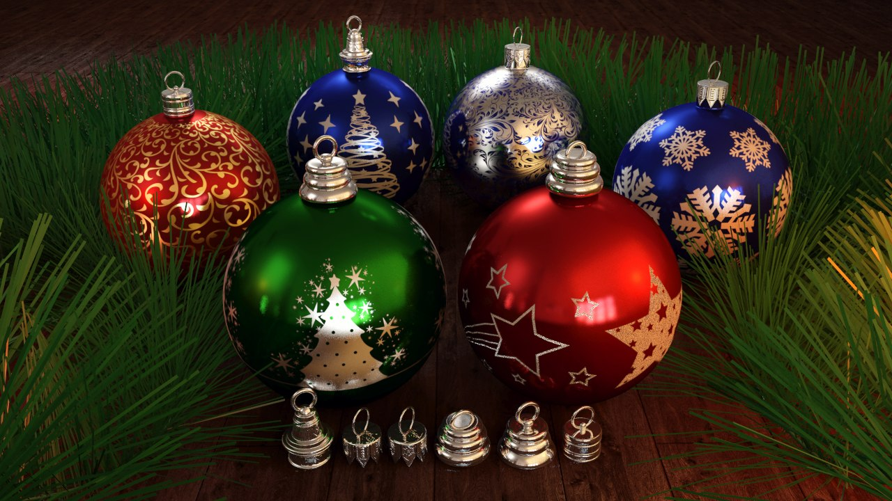 3d christmas decorate balls model