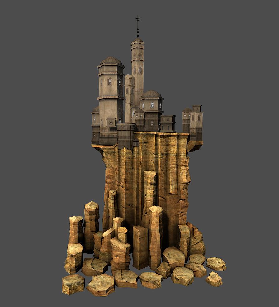 fantasy castle obj