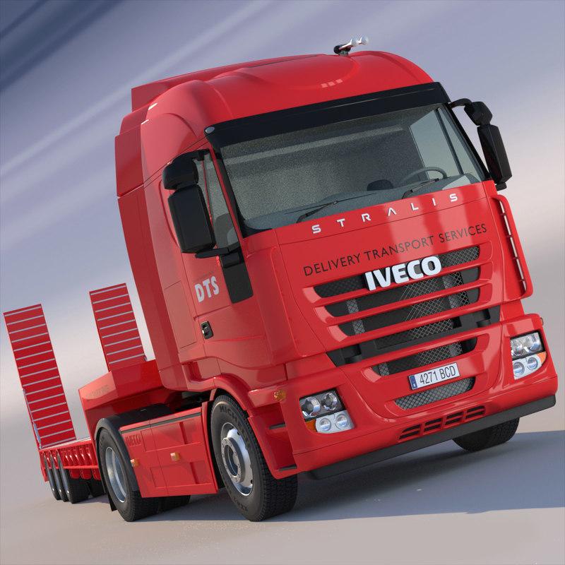 3d iveco stralis semi truck