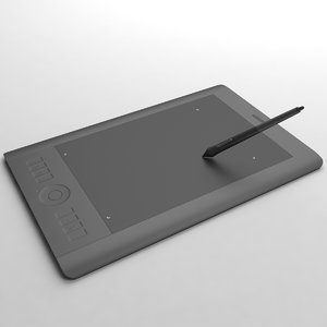 3d model wacom intuos 5 graphics