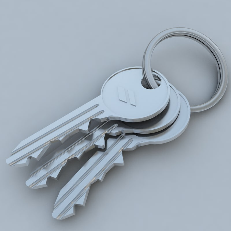 3d model key keychain chain