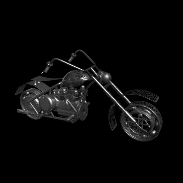 motorcycle sculpture 3d max