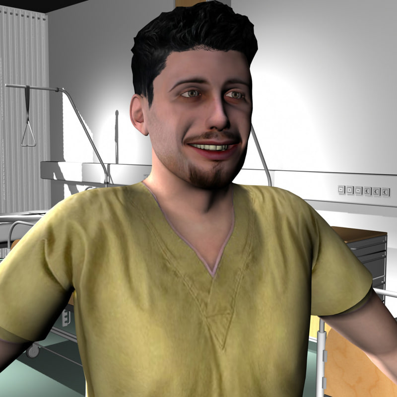 3d male medical staff model