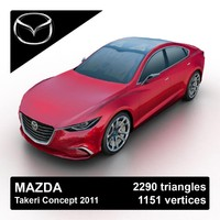 2011 mazda takeri concept 3ds