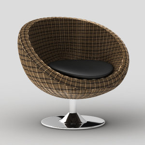oliana swivel chair 3d model