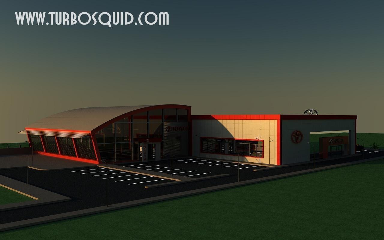 3d model toyota showroom