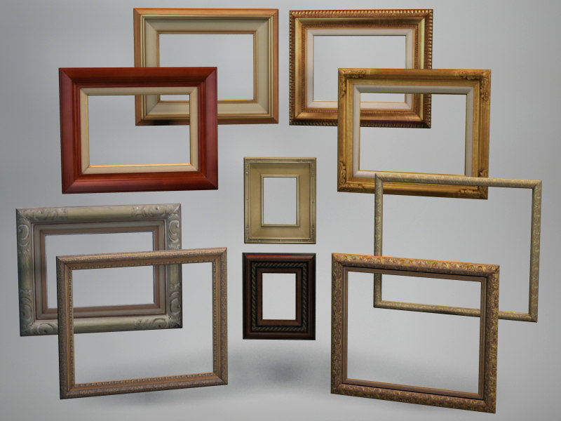 picture frames 3d max