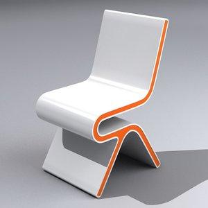 modern lounge chair 3d max