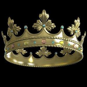 golden royal crown floral max
